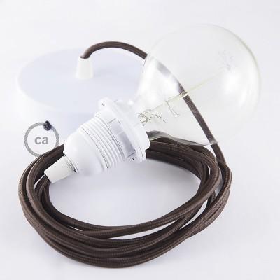 Pendelset för lampskärm med Brun rund textilkabel RM13