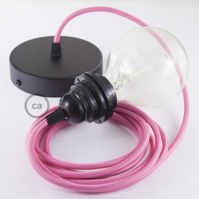 Pendelset för lampskärm med Cerise rund textilkabel RM08