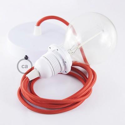 Pendelset för lampskärm med Röd rund textilkabel RM09