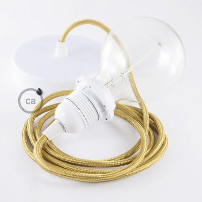 Pendelset för lampskärm med Guld rund textilkabel RM05