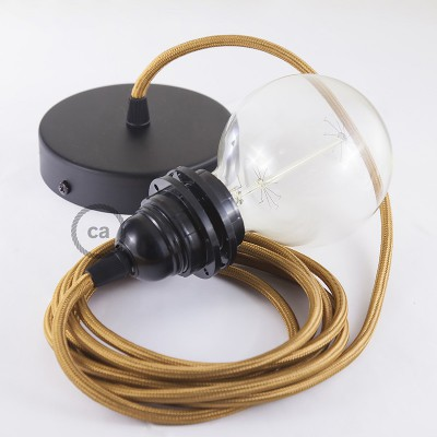 Pendelset för lampskärm med Whiskey rund textilkabel RM22