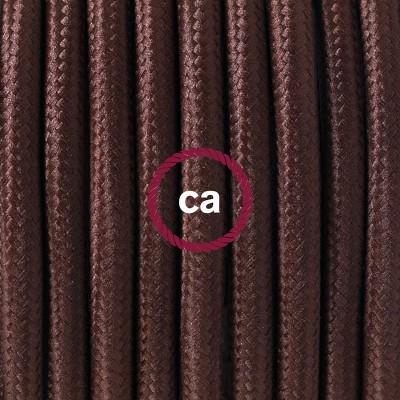 Pendelset Porslin med rund textilkabel RM13 Brun
