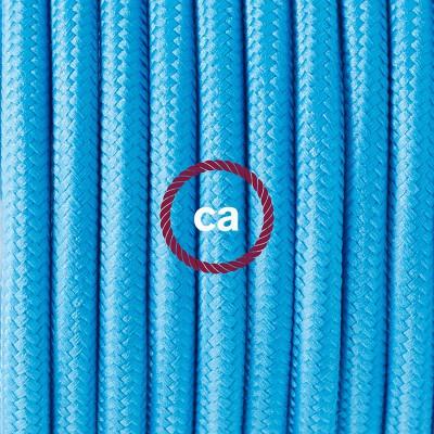Pendelset Porslin med rund textilkabel RM11 Azurblå