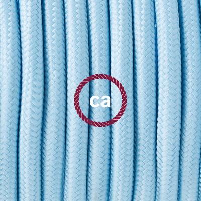 Pendelset Porslin med rund textilkabel RM17 Ljusblå