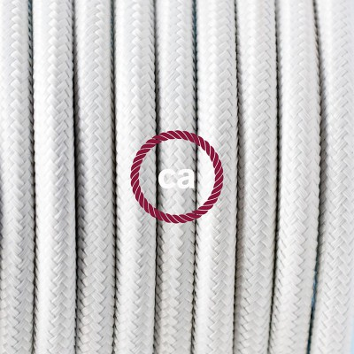 Pendelset Porslin med rund textilkabel RM01 Vit