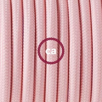 Pendelset Porslin med rund textilkabel RM16 Ljusrosa