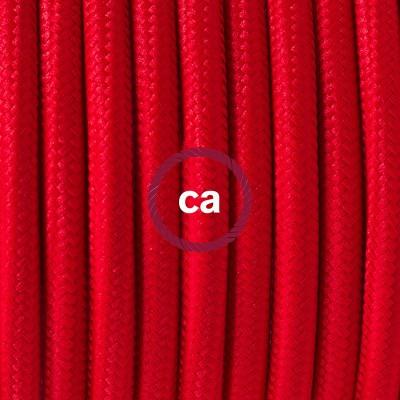 Pendelset Porslin med rund textilkabel RM09 Röd