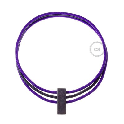 Circles, justerbart halsband i Purpur RM14 och Svart RM04.