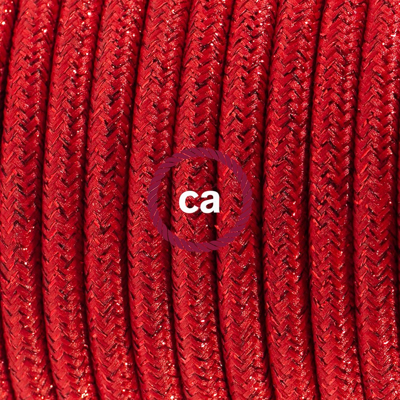 Sladdställ, RL09 Röd Viskos 1,80 m. Välj färg på strömbrytare och kontakt