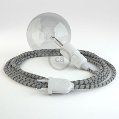 Skapa din egna Snake med textilkabeln RD54 Randig Antracit och få ljuset dit du önskar.