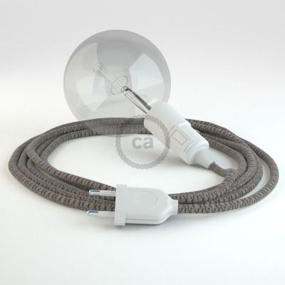 Skapa din egna Snake med textilkabeln RD64 Lozenge Antracit och få ljuset dit du önskar.