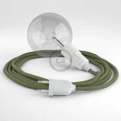 Skapa din egna Snake med textilkabeln RD72 ZigZag Thyme och få ljuset dit du önskar.
