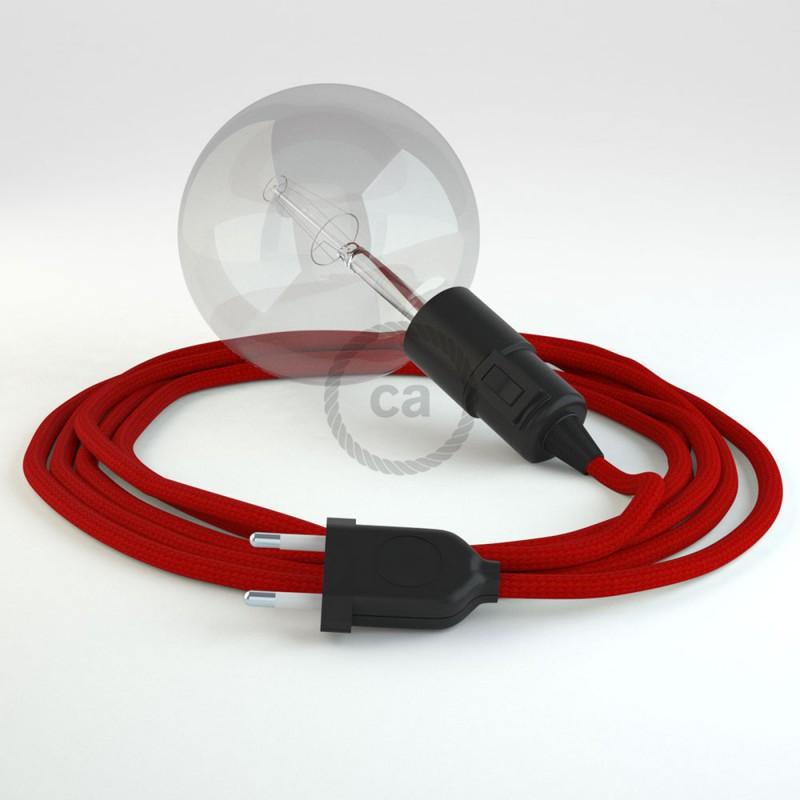Skapa din egna Snake med textilkabeln RM09 Röd och få ljuset dit du önskar.