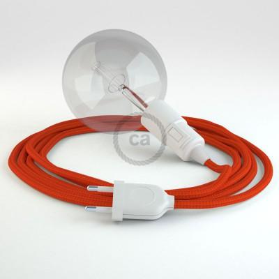 Skapa din egna Snake med textilkabeln RM15 Orange och få ljuset dit du önskar.