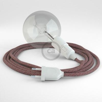 Skapa din egna Snake med textilkabeln RS83 Tweed Rödbrun och få ljuset dit du önskar.