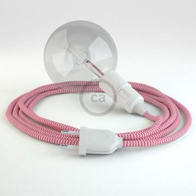 Skapa din egna Snake med textilkabeln RZ08 ZigZag Cerise och få ljuset dit du önskar.