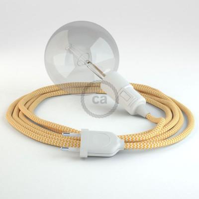 Skapa din egna Snake med textilkabeln RZ10 ZigZag Gul och få ljuset dit du önskar.