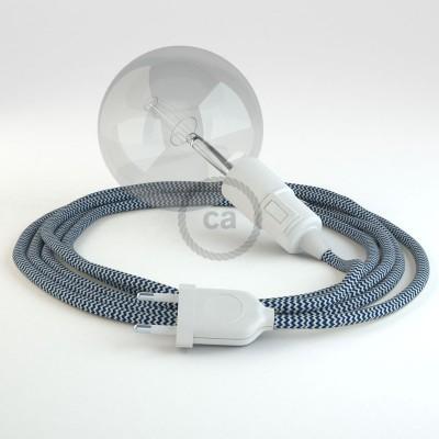 Skapa din egna Snake med textilkabeln RZ12 ZigZag Blå och få ljuset dit du önskar.