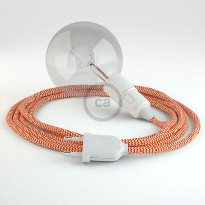 Skapa din egna Snake med textilkabeln RZ15 ZigZag Orange och få ljuset dit du önskar.