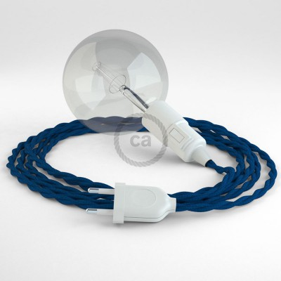 Skapa din egna Snake med textilkabeln TM12 Blå och få ljuset dit du önskar.