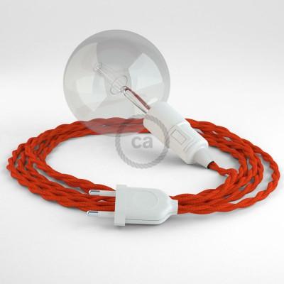 Skapa din egna Snake med textilkabeln TM15 Orange och få ljuset dit du önskar.