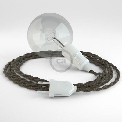 Skapa din egna Snake med linnekabeln TN04 Brun och få ljuset dit du önskar.