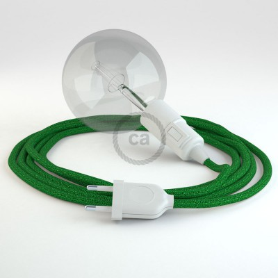 Skapa din egna Snake med textilkabeln RL06 Glittrande Grön och få ljuset dit du önskar.