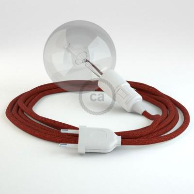 Skapa din egna Snake med textilkabeln RL09 Glittrande Red och få ljuset dit du önskar.