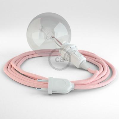 Skapa din egna Snake för lampskärmar med textilkabeln RM16 Baby Pink och få ljuset dit du önskar.