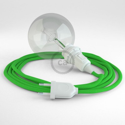 Skapa din egna Snake för lampskärmar med textilkabeln RM18 Limegrön och få ljuset dit du önskar.