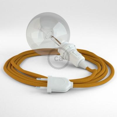 Skapa din egna Snake för lampskärmar med textilkabeln RM25 Senapsgul och få ljuset dit du önskar.
