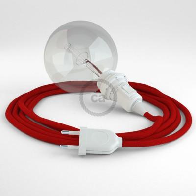 Skapa din egna Snake för lampskärmar med bomullskabeln RC35 Eldröd och få ljuset dit du önskar.