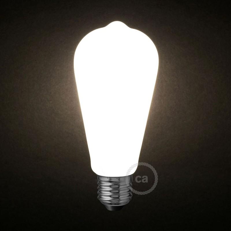 LED Ljuskälla Milky White - Edison ST64 - 6W E27 Dimbar 2700K