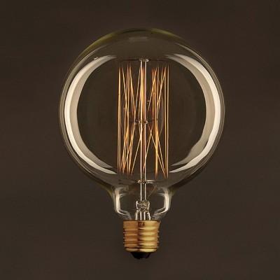 Vintage Globe G125 ljuskälla Guld med kolfilament cage 25W E27 dimbar 2000K