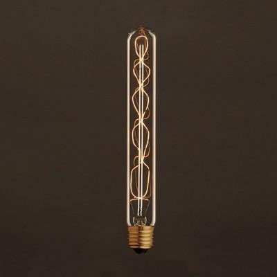 Vintage T28 ljuskälla Guld med kolfilament spiral 25W E27 dimbar 2000K