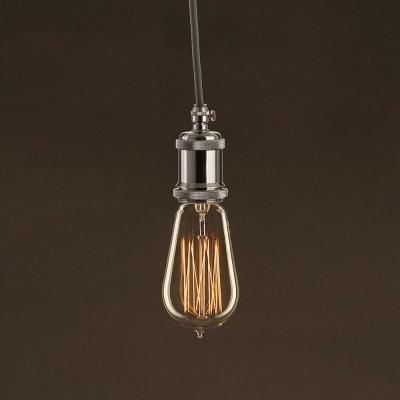 Vintage Edison ljuskälla Guld ST58 med kolfilament cage 25W E27 dimbar 2000K