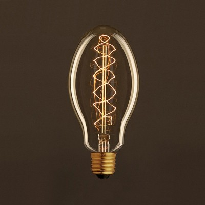 Vintage Candle ljuskälla Guld E75 med kolfilament dubbelspiral 25W E27 dimbar 2000K