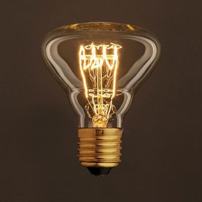 Vintage ljuskälla Guld BR95 med kolfilament horisontell spiral 30W E27 dimbar 2000K