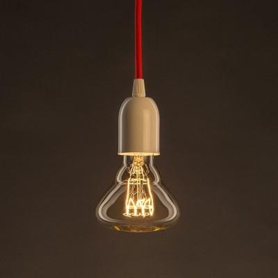 Vintage ljuskälla Guld BR95 med kolfilament horisontell spiral 25W E27 dimbar 2000K
