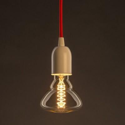 Vintage ljuskälla Guld BR95 med kolfilament dubbelspiral 25W E27 dimbar 2000K