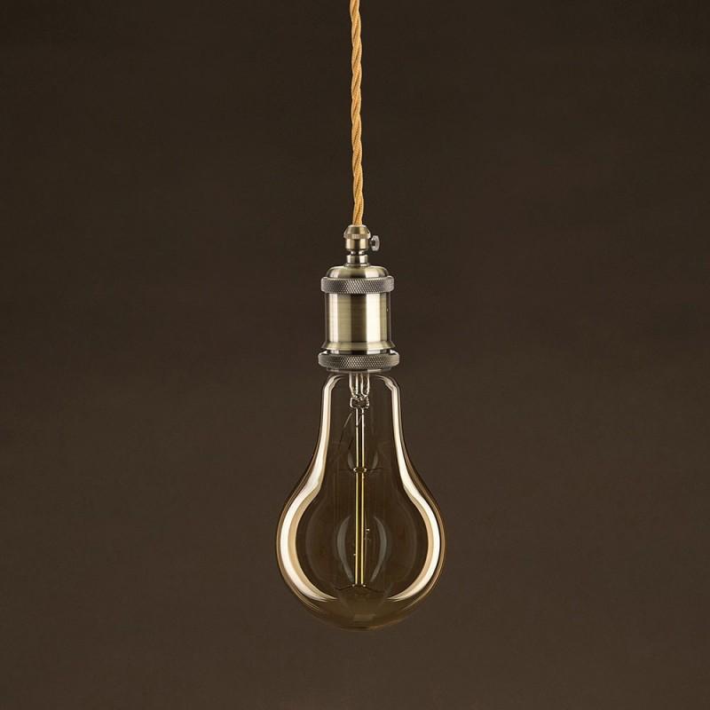 Vintage ljuskälla Drop Guld A95 med kolfilament cage 30W E27 dimbar 2000K