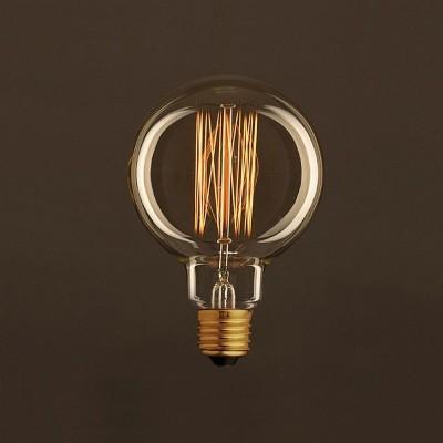 Vintage ljuskälla Globe Guld G95 med kolfilament cage 30W E27 dimbar 2000K