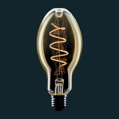 Candle LED-ljuskälla Guld E27 med böjd filament spiral 4W E27 dimbar 2000K