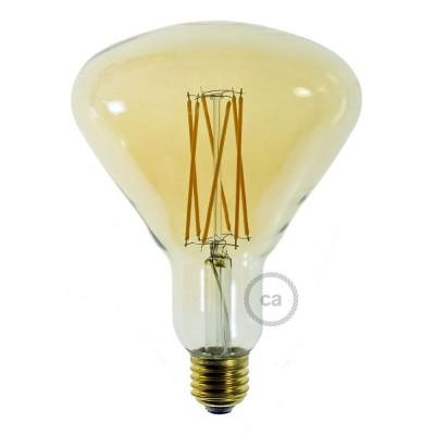 LED-ljuskälla Guld BR125 med filament cage 4W E27 dimbar 2000K