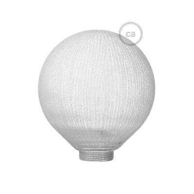 Glob till Modular dekorativ Ljuskälla G125 Vit med vertikala linjer