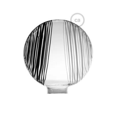 Glob till Modular dekorativ Ljuskälla G125 Vit med svarta och vita cirklar