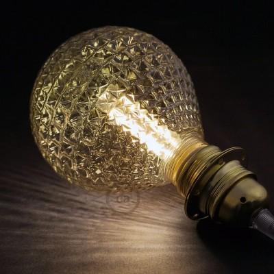 Modular LED Dekorativ Ljuskälla med Rökfärgat fasettglas 5W E27 Dimbar 2700K