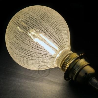 Modular LED Dekorativ Ljuskälla Vit med vertikala linjer 5W E27 Dimbar 2700K