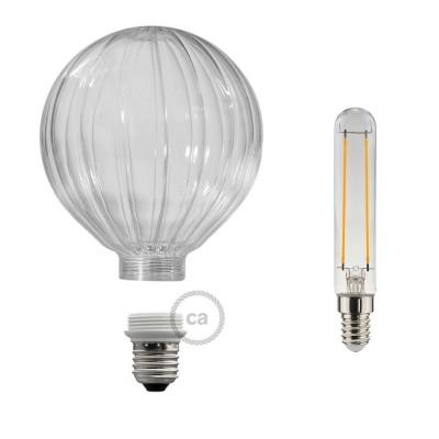 Modular LED Dekorativ Ljuskälla med Klar ballongform 5W E27 Dimbar 2700K
