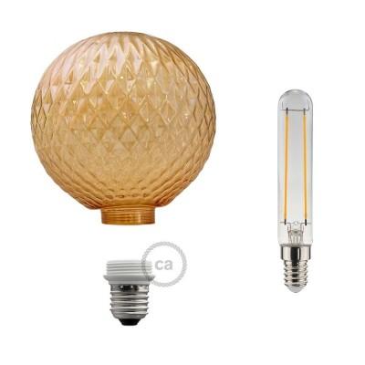 Modular LED Dekorativ Ljuskälla med Rökfärgat glas 5W E27 Dimbar 2700K